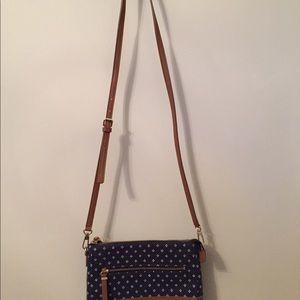 Talbots navy blue crossbody purse